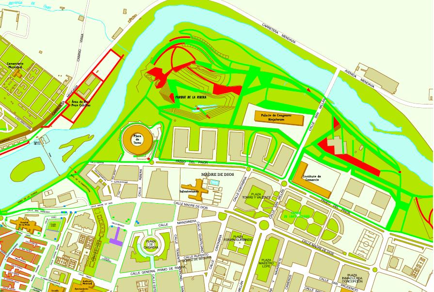 Mapa de itinerarios del parque