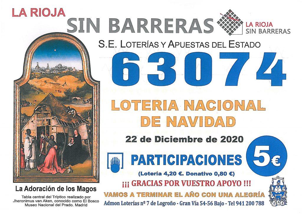 Lotería Navidad 63074